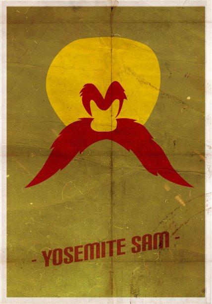 yosemite_sam__minimal_poster_by_sertug-d5zjo3d